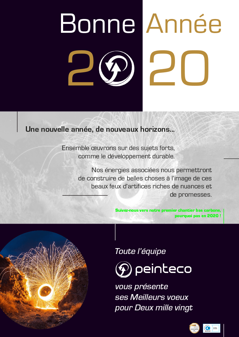 Peinteco Carte de Voeux 2020