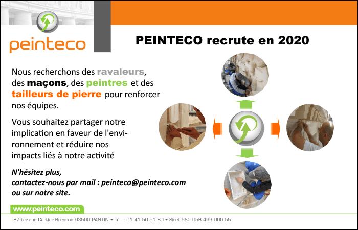 Peinteco recrute en 2020