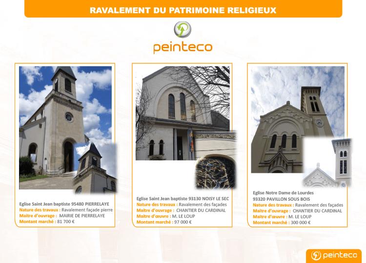 Ravalement de façade du patrimoine religieux