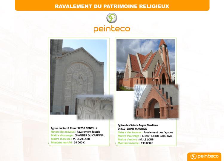 Ravalement de façade d'église