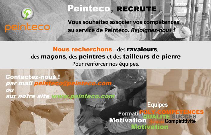 Peinteco recrute pour l'année 2021